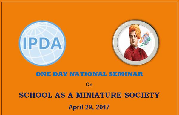 National Seminar on 'School as a Miniature Society'