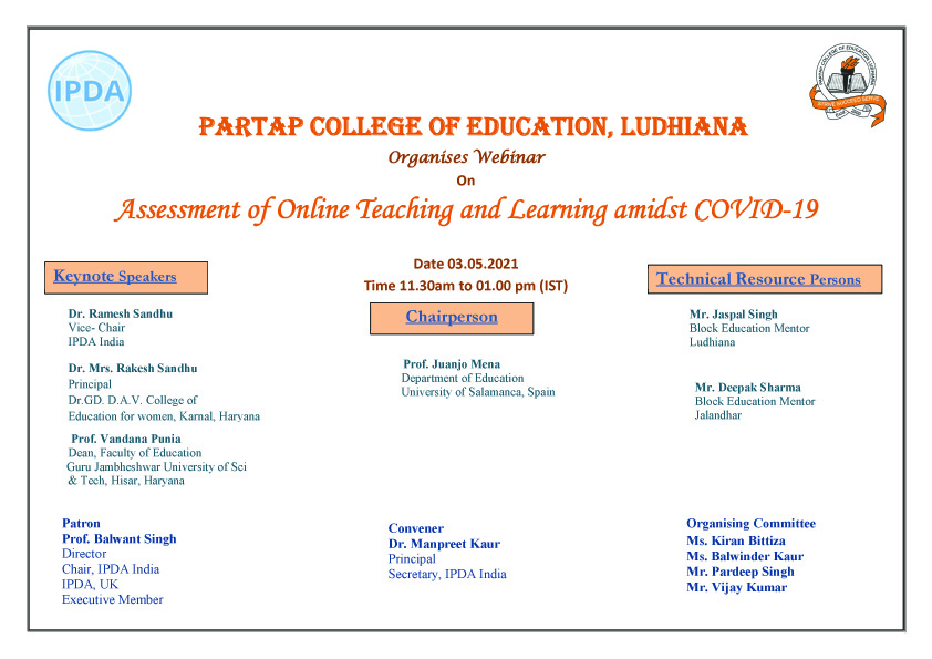 Assessment of Online Teaching and Learning amidst COVID-19